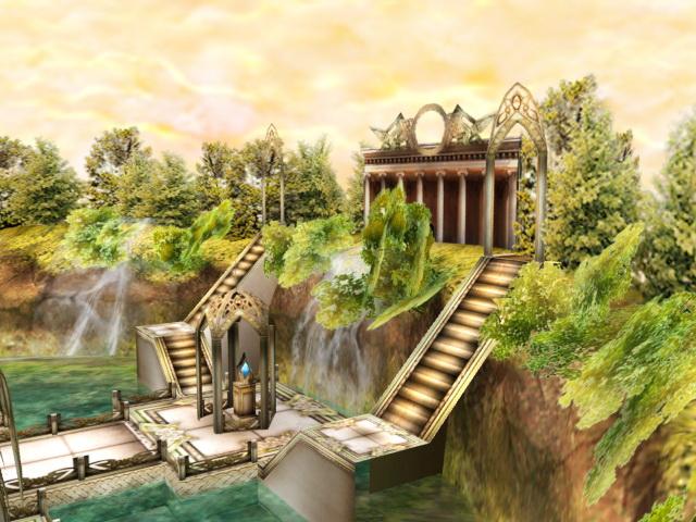 Ancient Jungle Civilizations 3d rendering