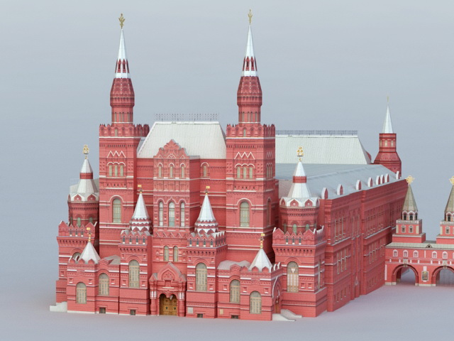 State Historical Museum 3d rendering