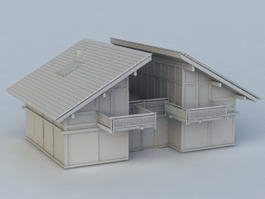 Old Abandoned House 3d model preview