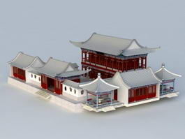 Chinese Courtyard House 3d preview