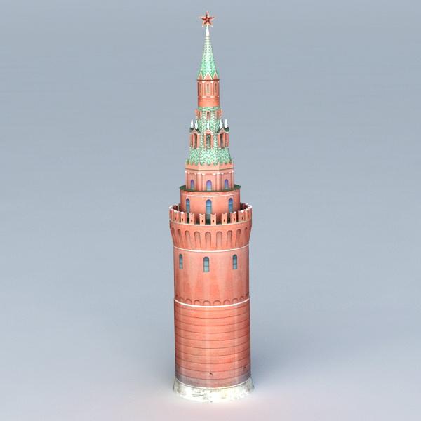 Russia Tower Moscow Kremlin 3d rendering