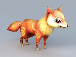 Anime Fox Animal Rigged 3d model preview