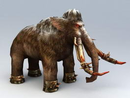 War Mammoth Rigged 3d preview
