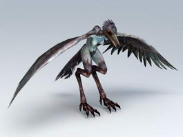 Giant Bird Monster Rigged 3d preview