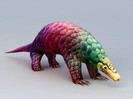 Giant Pangolin Rigged 3d model preview