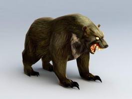 Mutated Monster Bear 3d model preview