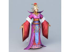 Medieval Chinese Old Lady 3d preview