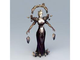 Female Dark Sorceress 3d preview