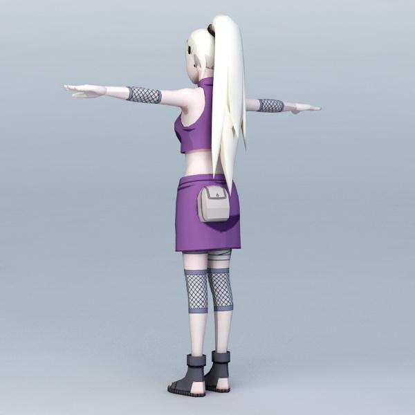 Ino Yamanaka Naruto 3d rendering