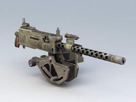 WWII 30 Cal Machine Gun Ammo 3d model preview