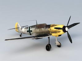 German Messerschmitt WWII Bf 109 3d preview