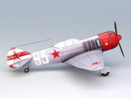 WW2 Soviet Aircraft La-7 3d model preview
