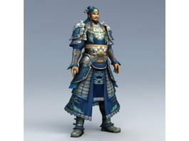 Ancient Chinese War General 3d model preview