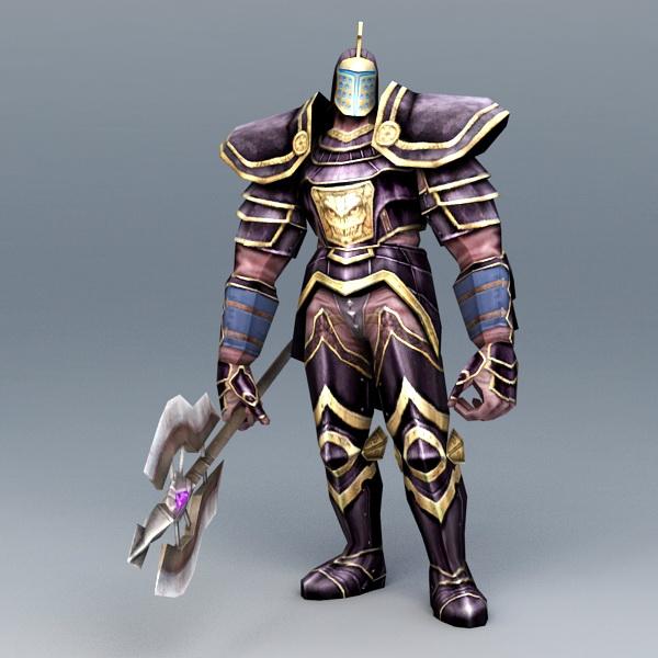 Robot Warrior Guardian Rigged 3d rendering