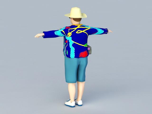 Tourist People 3d rendering