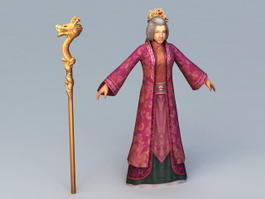 Ancient Chinese Grandmother 3d preview