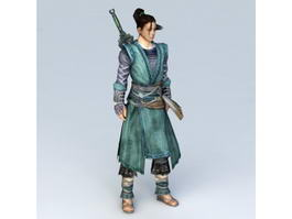 Chinese Swordsman Concept Art Character 3d preview