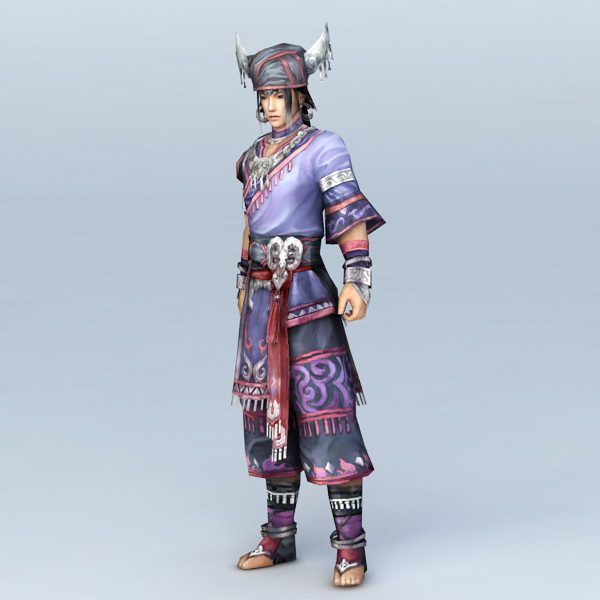 Ancient Korean Musket Soldier 3d model 3ds Max files free
