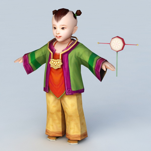 Traditional Hmong Man 3d model 3ds Max files free download