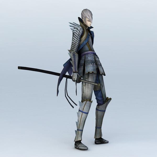 Anime Sword Guy 3d rendering