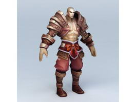 Pathfinder Monk Character 3d preview