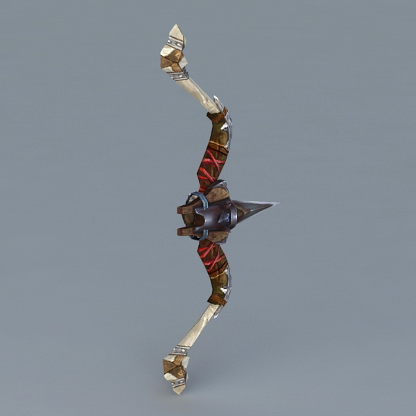 Ancient Bow 3d rendering