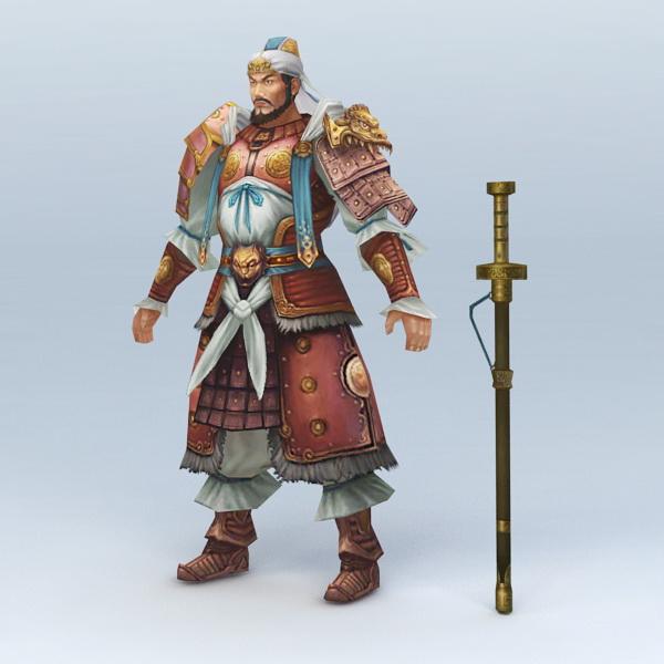 Warrior with Sword 3d rendering