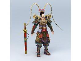 Warrior God of War 3d preview