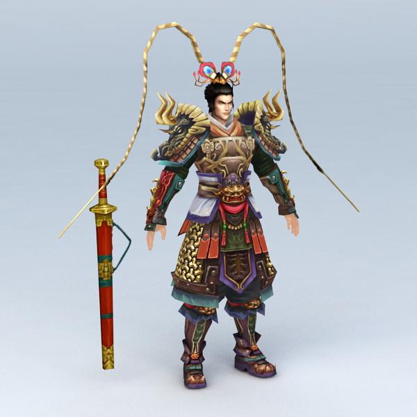Warrior God of War 3d rendering