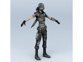 Sci Fi Gunslinger 3d model preview