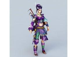 Adventure Girl 3d model preview