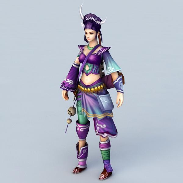 Adventure Girl 3d rendering