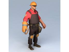 Engineer Character Rigged 3d preview