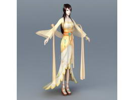 Chinese Moon Goddess 3d model preview