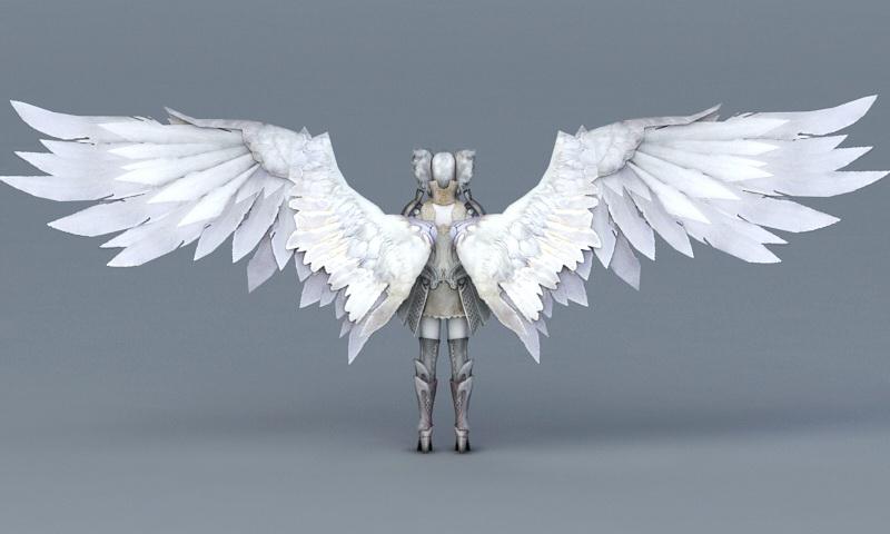 Female Angel Warrior of God 3d rendering