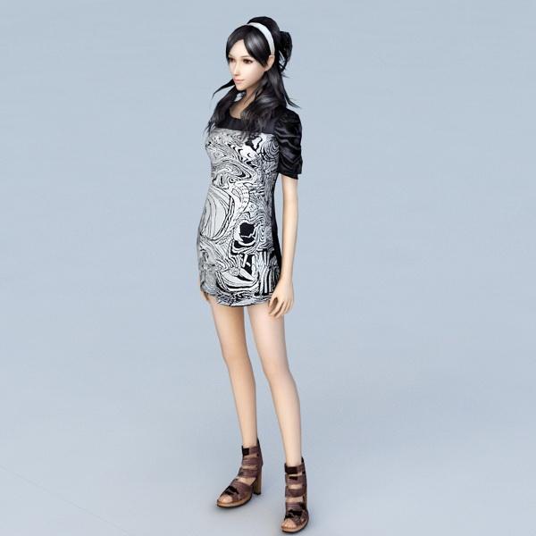 Beautiful teen girl 3d model 3ds Max files free download