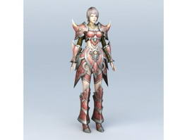 Medieval Female Knight 3d preview