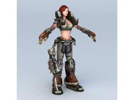Steampunk Warrior Girl 3d preview