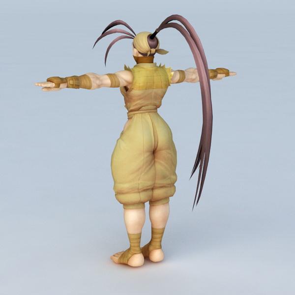 Ibuki Street Fighter 3d rendering