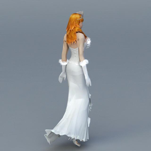 Elegant Bride 3d rendering