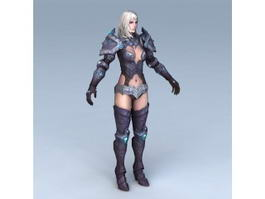 Female Paladin Concept 3d preview