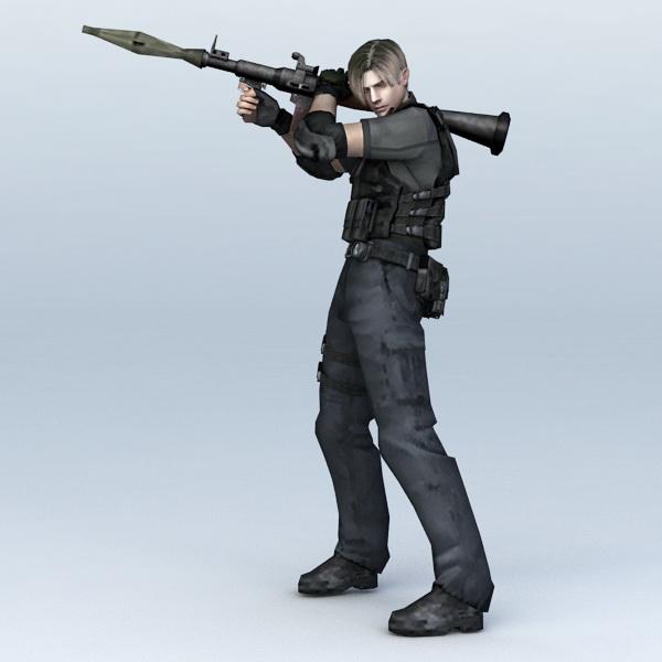 Police SWAT with RPG 3d rendering