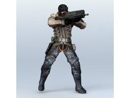 Sci-Fi Soldier Concept 3d preview
