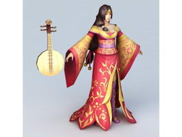 Chinese Geisha Girl 3d preview