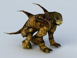 Alien Planet Creature 3d model preview