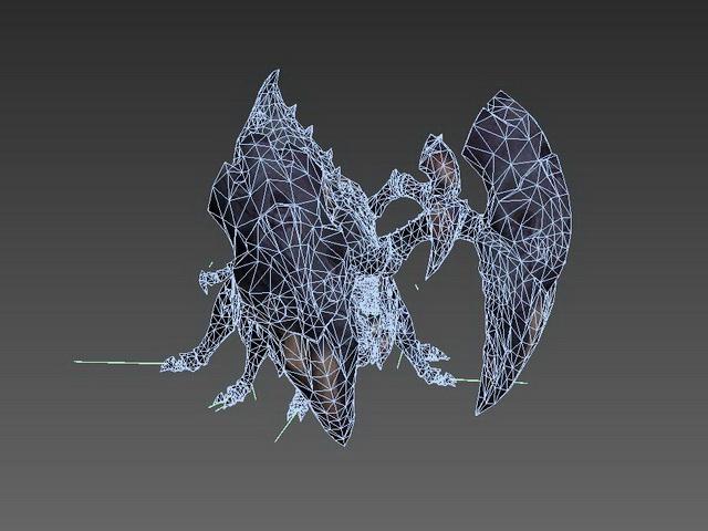 Huge Monster Spider 3d rendering