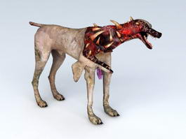 Resident Evil Zombie Dog 3d preview