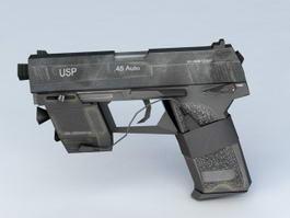 HK USP .45 Tactical 3d model preview