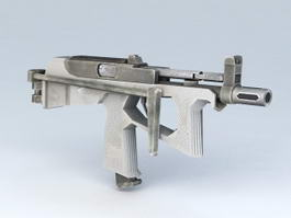 Machine Pistol Weapon 3d model preview
