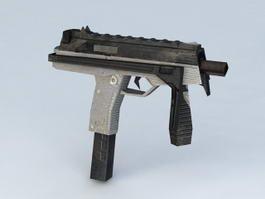 Submachine Pistol 3d model preview
